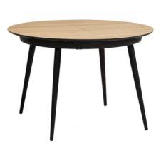 Table ronde Céline imitation chêne/ noir