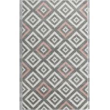 TAVLA – Tapis géométrique rose 80x150cm