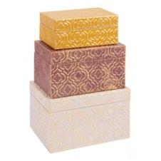 Boîtes set de 3 CHANA multicolor
