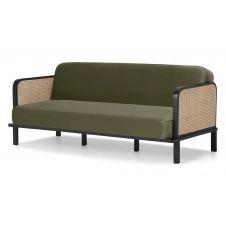 Toriko, canapé convertible clic-clac, velours vert sycomore
