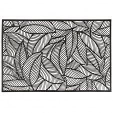 Set de table motif feuillage ciselé noir