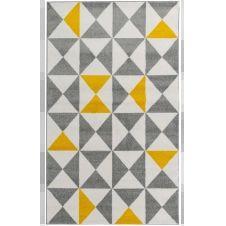 FORSA – Tapis géométrique jaune 60x110cm
