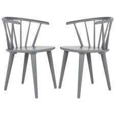 Chaise de table en hévéa gris (x2)