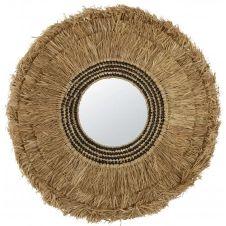 Miroir en fibre végétale 96×96