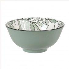Bol en porcelaine bleue motif végétal