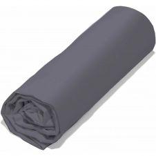 Drap Housse  coton gris 140×200 cm