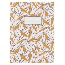 Carnet de notes imprimé feuilles jaunes et blanches
