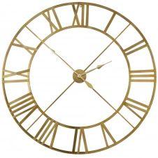 Horloge en métal doré D122