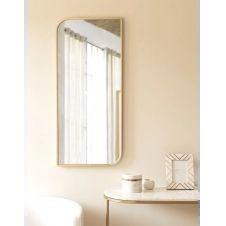 Miroir en métal doré 40×90