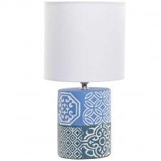 Petite lampe en faïence carreaux de ciment H31cm