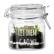Plante artificielle et bocal en verre
