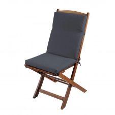 Coussin de fauteuil outdoor coloré polyester anthracite 90×40