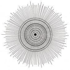 Déco murale filaire en métal noir D70
