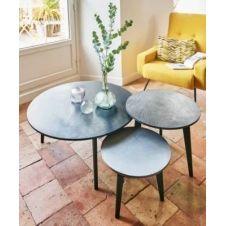 Ensemble de 3 tables basses Mercure