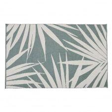 Tapis d'extérieur imprimé feuillage vert et beige 120×180