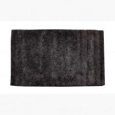 Tapis de bain uni en coton coton noir 80×50