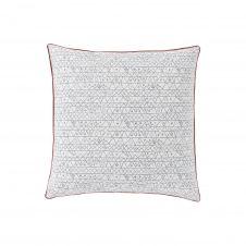 Taie d'oreiller imprimée en coton blanc 65×65